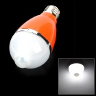 E27 5W 460lm 6500K PIR IR Infrared Motion Sensor White 1-LED Light Bulb - Orange (100~240V)
