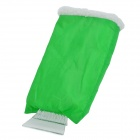 SD-3102 Car Warm Cotton + Plastic Ice Snow Scraper / Shovel Glove - Green