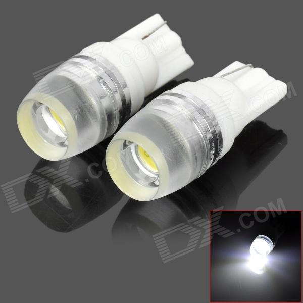 T10-1W-W T10 1W 90lm 6500K White Light 1-LED Car Dashboard Lamp (2PCS)