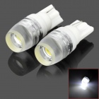 T10-1W-W T10 1W 90lm 6500K White Light 1-LED Car Dashboard Lamp (DC 12V / 2 PCS)