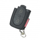 AML030118 Replacement 3-Button Remote Key Cover Shell Case for Audi - Black + Red