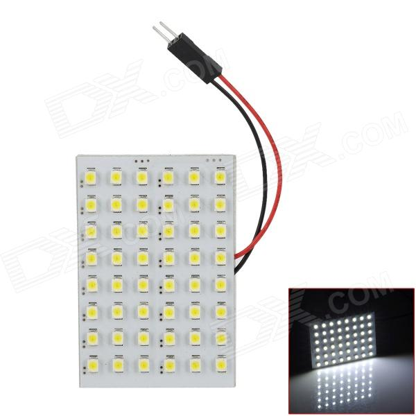 FD1210-48W T10 BA9S Festoon 31mm~45mm 3W 6000K 280lm 48-SMD 3528 LED White Reading Lamp (12V)