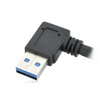 USB 3.0 Type-A Male Right-Angle to Micro USB Male Adapter HDD Data Cable - Black (30cm)
