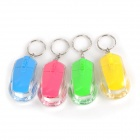 Mouse Style Red / Blue Light LED Flashlight Keychains - Deep Pink + Yellow + Blue + Green (4 PCS)