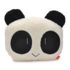 Cute Smile Panda Style Soft Plush Throw Pillow - White + Black