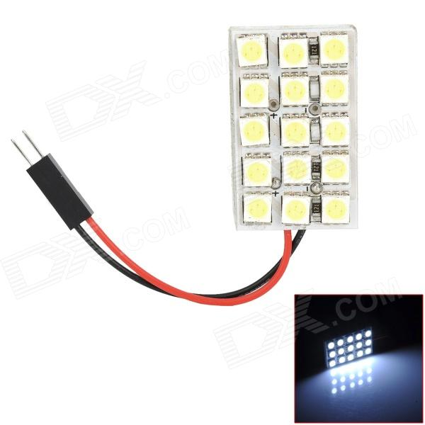 FD50-15W T10 / BA9S / Festoon 31mm~45mm 1.8W 190lm 15-SMD 5050 LED White Light Car Lamp - (DC 12V)