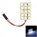 FD50-15W T10 / BA9S / Festoon 31mm ~ 45mm 1.8W 190lm 15-SMD 5050 LED White Light Car Lamp - (DC 12V)
