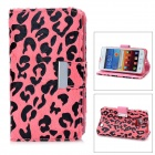 KALAIDENG Leopard Style Protective PU Leather Case for Samsung Galaxy S2 i9100 - Pink