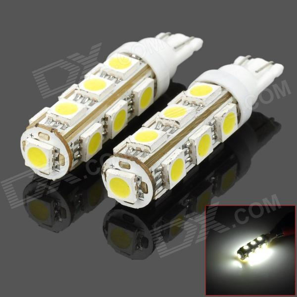 T10 3W 140lm 13-SMD 5050 LED White Light Car Steering / Corner / Parking / Side / Tail Lamp (DC 12V)