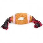 Cotton Rope Velvet Rugby Style Dog Pet Toy - Brown