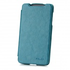 KALAIDENG Protective PU Side-open Case w/ Holder for HTC T528w - Dark Cyan