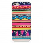 Geometric Pattern Matte Plastic Back Case for Iphone 5 - Multicolored