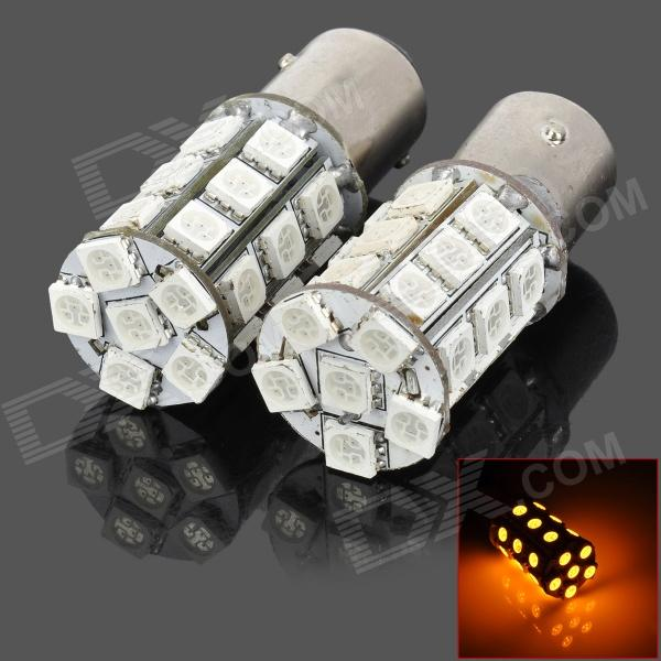 115750-27Y 1157 5W 300lm Yellow Light 27-SMD 5050 LED Car Turn Signal / Tail Lamp (DC 12V / 2 PCS)