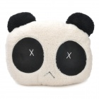 002 Cry Expressional Panda Plush Throw Pillow - Black + White (Size: S)