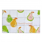 Fruit Pattern Kitchen Water Resistant Oil-Proof Aluminum Foil Sticker - White