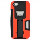 Protective Detachable Back Case w/ Bottle Opener / Stand Holder for iPhone 5 - Black + Red