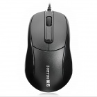 ZUNTUO Wired 1200dpi Optical Mouse - Black