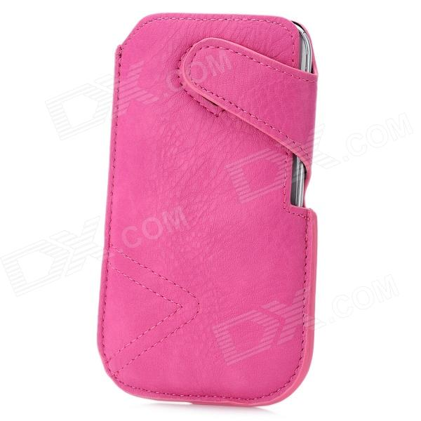 Stylish Protective PU Leather Pouch Case for Samsung Galaxy S3 i9300 / Nexus i9250 - Deep Pink fashionable protective bumper frame case with bowknot for samsung galaxy s3 i9300 black