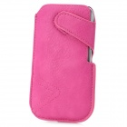 Stylish Protective PU Leather Pouch Case for Samsung Galaxy S3 i9300 / Nexus i9250 - Deep Pink