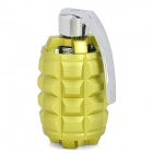 Grenade Style Mini Rechargeable Media Player Speaker w/ TF / FM - Green Yellow + Silver