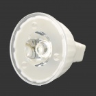 GU4 1W 90lm 6000K 1-LED White Light Reusable Lamp - White (DC 12V)