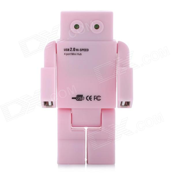 Vivid Robot Style USB 2.0 4-Port Hub w/ USB Cable - Pink прицел коллиматорный utg leapers new gen 1x30 закрытый