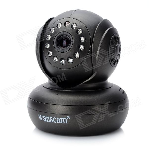 Wanscam JW0004 300KP CMOS Network Infrared IP Camera w/ Wi-Fi (Free DDNS) - Black
