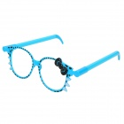 Cute Cat Pattern Glasses Frame Ball-Point Pen - Blue (2 PCS)