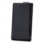 Genuine Leather Protective Flip-Open Case for Nokia Lumia 920 - Black