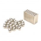 Ndfeb Magnet Cylindrical / Circle Magnetics + Steel Balls - Silver
