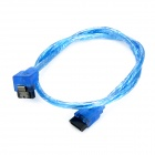 High Speed SATA III 3.0 Male to Male 6Gbps HDD Data Connection Cable - Blue (50cm)