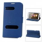 Alis Protective Open Window PU Leather Case for Samsung Galaxy Note 2 N7100 - Blue