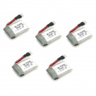 Walkera CP-Z-17 3.7V 300mAh Lithium Battery for Walkera Mini CP Helicopter - Silver (5 PCS)
