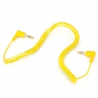 3.5mm Male to Male Right Angle Flexible Cable - Yellow (150cm)