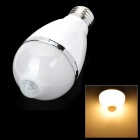 E27 5W 460lm Warm White Light LED Infrared Body Induction Lamp Bulb - White