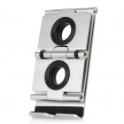 Folding Aluminum Desktop Stand Holder for Iphone / Ipad - Silver + Black