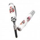 Chinese Peking Opera Faces Pattern Fountain Pen - White
