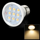 E27 3W 200lm 3200K 9-SMD 2835 LED Warm White Bulb - White (85~245V)