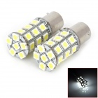 1156 / BA15S / P21W 5W 300lm 27-5050 SMD LED White Light Car Turn / Brake / Tail Lamp (12V / Pair)
