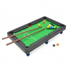 6002A Mini ABS Table Tennis Snooker Game - Black + Green + Red + Blue