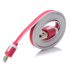 Universal USB 2.0 to Micro USB Data Cable - Deep Pink + Orange + White (100cm)
