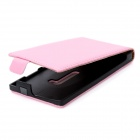 Genuine Leather Flip Case-Open protetora para Nokia Lumia 920 - Pink