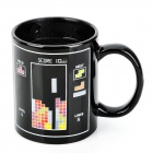 YSDX-701 Building Block Pattern Color Changing Ceramic Mug - Black + White