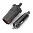 Car Cigarette Lighter Socket + Car Charger Set - Black (12V~48V)
