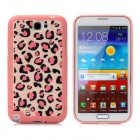 Leopard Style Protective Plastic Back Case for Samsung Galaxy Note II N7100 - Pink