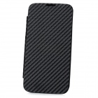 Twill Pattern Protective PU + Metal Case w / NFC Battery Back for Samsung N7100 - Schwarz