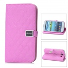 RX01P Protective Sheepskin Leather Case for Samsung Galaxy S3 i9300 - Purple