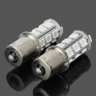 1156 BA15S P21W 3.5W 200lm 590nm 18-SMD 5050 LED Yellow Car Steering Lamps (2 PCS / 12V)