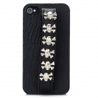 Cool Skull Style Protective Back Case for Iphone 4 / 4S - Black (Skull Size-M)