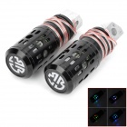 SENCART Hollow-Out Style Aluminum Rear Back Pedals w/ Flashing LED for Motorcycle (2 PCS / 12V)